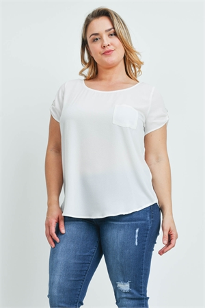 S8-8-4-T10235X OFF WHITE PLUS SIZE TOP 2-2-2