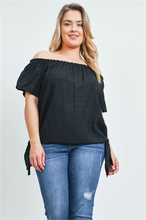 SA4-0-4-T10544X BLACK PLUS SIZE TOP 2-2-2