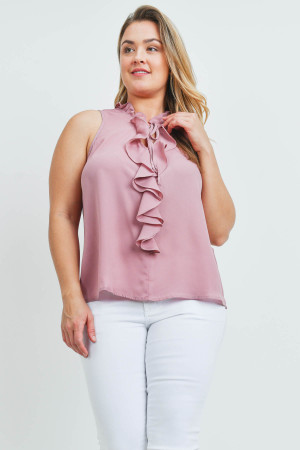 SA4-00-4-T9949X MAUVE PLUS SIZE TOP 2-2-2
