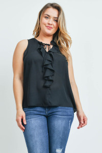 SA4-000-4-T9949X BLACK PLUS SIZE TOP 2-2-2