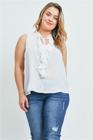 SA4-000-4-T9949X OFF WHITE PLUS SIZE TOP 2-2-2
