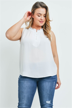 SA4-000-4-T9569X OFF WHITE PLUS SIZE TOP 2-2-2
