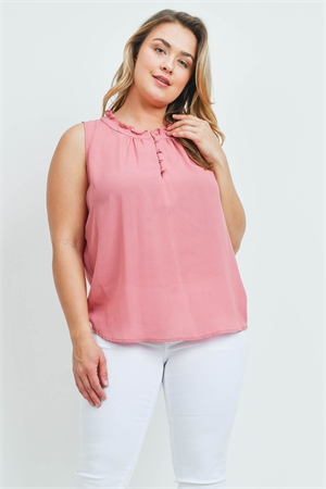 S12-8-4-T9569X MAUVE PLUS SIZE TOP 2-2-2