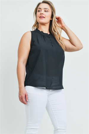 S11-14-4-T9569X BLACK PLUS SIZE TOP 2-2-2