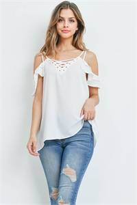 S11-2-4-T9104X OFF WHITE PLUS SIZE TOP 2-2-2