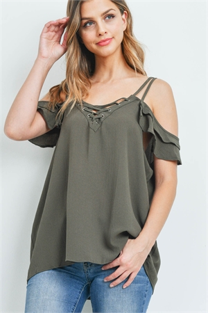 S11-2-4-T9104X OLIVE PLUS SIZE TOP 2-2-2