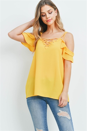 S11-2-4-T9104X YELLOW PLUS SIZE TOP 2-2-2