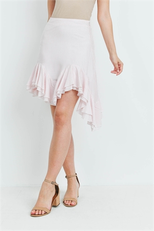 S15-1-1-S5005 PINK STRIPES SKIRT 3-2-1