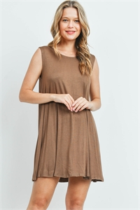 C92-A-2-D8192 COFFEE DRESS 2-2-2