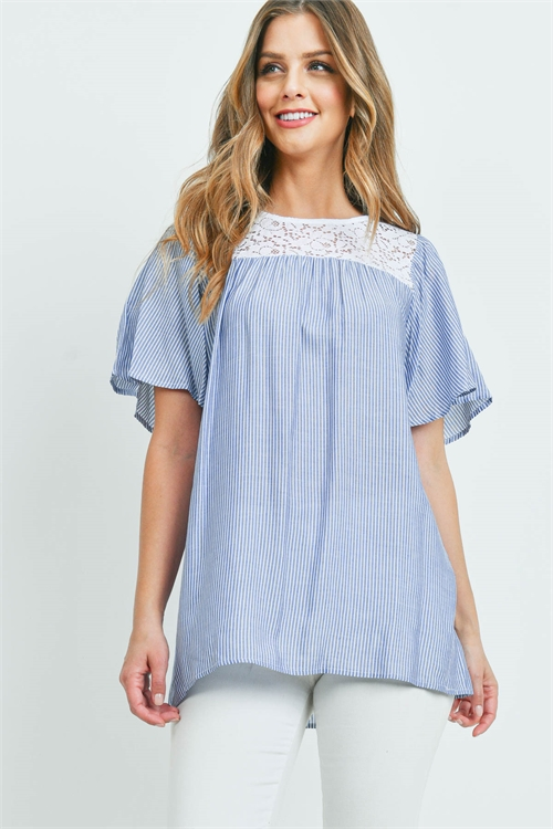 C50-A-1-T115 BLUE WHITE STRIPES TOP 3-1