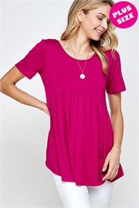 C40-A-1-WT2405X FUCHSIA PLUS SIZE TOP 2-2-2