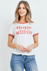 S10-20-1-T701 IVORY HOPE IS ALIVE PRINT TOP 2-2-2