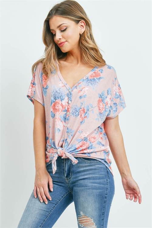 C50-A-3-T8088 BLUSH WITH FLOWER TOP 3-3