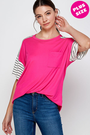 C4-A-1-WT2414X FUCHSIA PLUS SIZE TOP 2-2-2