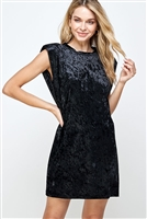 C30-A-2-WD4335 BLACK VELVET DRESS 2-2-2