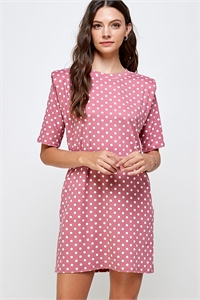 C40-A-1-WD4366 MAUVE POLKA DOT DRESS 2-2-2