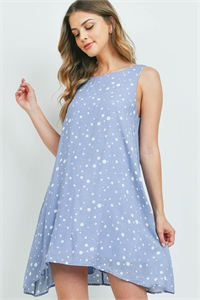 C66-A-2-D65790 BLUE WHITE POLKA DOTS DRESS 2-2-2