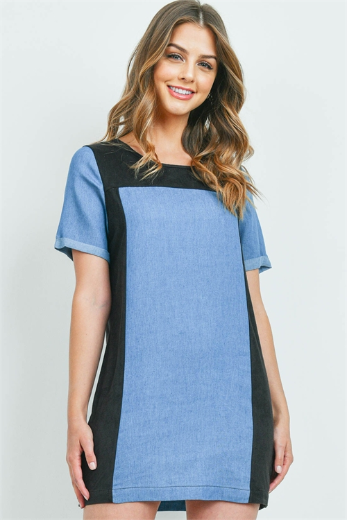 C68-A-1-D6041 BLACK DENIM BLUE DRESS 2-2-2