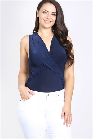 C48-A-1-B30237X NAVY PLUS SIZE BODYSUIT 2-2-2