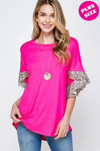 C16-A-2-WT6226X FUCHSIA PLUS SIZE TOP 2-2-2