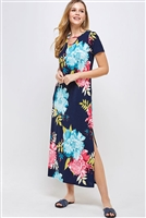 C22-A-2-WD1106 NAVY MULTI DRESS 2-2-2