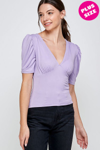 C28-B-3-WT2402X LILAC PLUS SIZE TOP 2-2-2