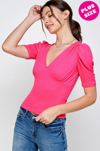 C28-B-3-WT2402X FUCHSIA PLUS SIZE TOP 2-2-2