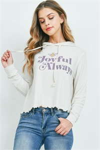 "S10-6-2-T512 IVORY ""JOYFUL ALWAYS"" PRINT TOP 1-1-1-1-1"