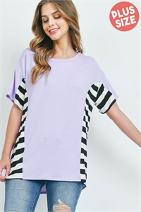 C18-A-1-WT2424X LAVENDER PLUS SIZE TOP 2-2-2