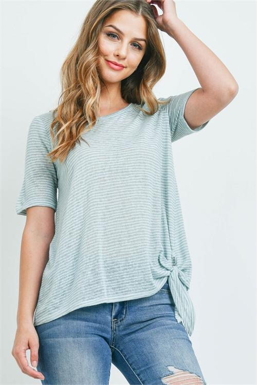 C80-A-1-T72109 SAGE STRIPES TOP 1-2-4
