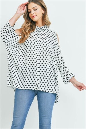 S11-16-3-T11856 WHITE BLACK WITH DOTS TOP 3-3
