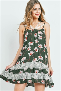 S9-10-3-D7392 DARK LIVE WITH FLOWER PRINT DRESS 2-2-2