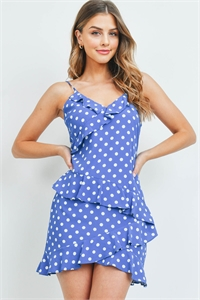S9-15-1-D3137 COBALT WHITE POLKA DOTS DRESS 1-3