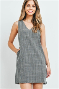 S5-9-2-T2573 GRAY PLAID DRESS 2-2-2