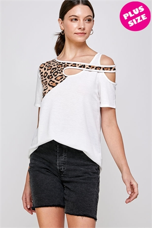 C70-A-1-WT2425X WHITE PLUS SIZE TOP 2-2-2