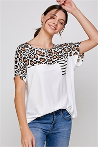 C66-A-1-WT2422 IVORY LEOPARD TOP 2-2-2