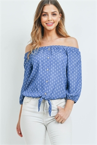 S4-2-2-T99541 BLUE DENIM TOP 1-2-2-1