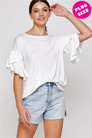 C24-A-1-WT6226X WHITE PLUS SIZE TOP 2-2-2