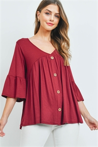 C68-A-3-T4244 BURGUNDY TOP 2-2-2
