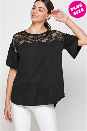 C30-A-2-WT2419X BLACK PLUS SIZE TOP 2-2-2