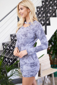 S10-1-4-D50746 BLUE TIE DYE DRESS 1-2-2-1