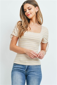 C50-A-1-T7187 YELLOW STRIPES TOP / 3PCS