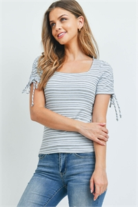 C44-B-1-T7187 BLUE STRIPES TOP 2-2-2