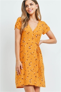 C32-A-1-D5958 MUSTARD WITH FLOWER PRINT DRESS 4-2-1