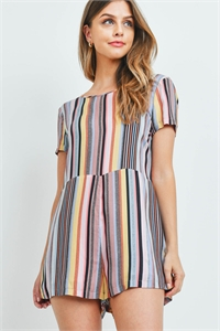 S11-9-1-R151 MULTI STRIPES ROMPER 3-2-1