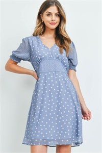 C24-A-1-D7492 BLUE DOTS DRESS 2-1