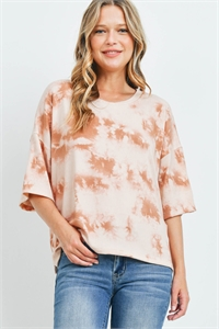 C42-A-1-T9478 ORANGE TIE DYE TOP 2-2-1