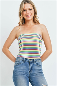 C18-B-1-T5579 MULTI STRIPES TOP 1-2-1