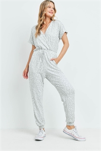 S9-19-3-J36781 GRAY WHITE CHEETAH PRINT JUMPSUIT 2-1