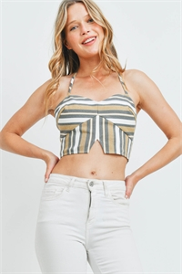 S9-19-3-T8631 TAUPE GRAY STRIPES TOP 4-2-1